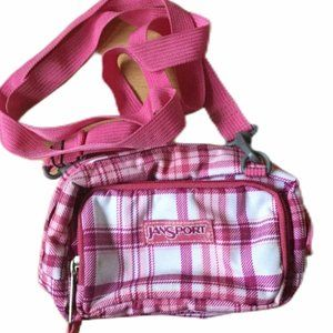 Retro Jansport Small Crossbody Belt Pouch Pink